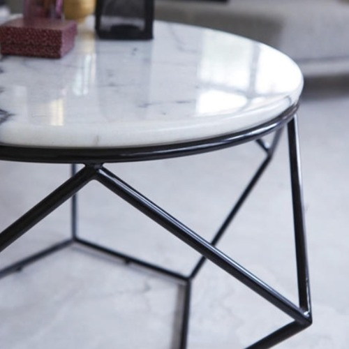 Nordic Geometric Marble Coffee Table