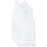 Lux VENUS Men's Cotton Vest (Pack of 6)