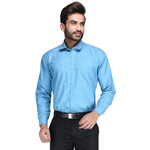 Lumens Mens solid Slim Fit Formal Shirt