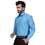 Lumens Mens solid Slim Fit Formal Shirt