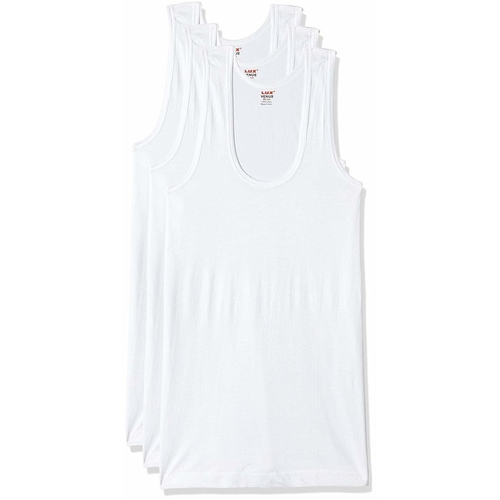 Lux VENUS Men's Cotton Vest (Pack of 3)