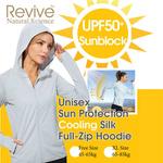 Unisex Sun Protection Cooling Silk Full-Zip Hoodie