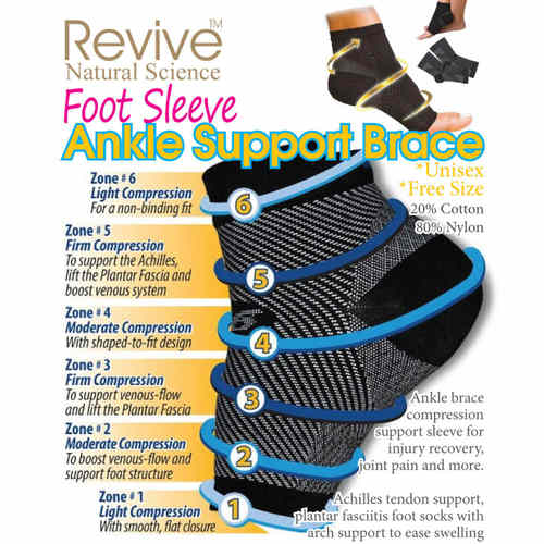 RV 13-Compression Foot Sleeve Ankle Support Brace