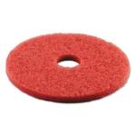 "3M Scrub Pad Disc  17"", Red"