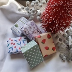 Bundle of 5 Hand Soaps in Floral  Pattern Paper Wrapped