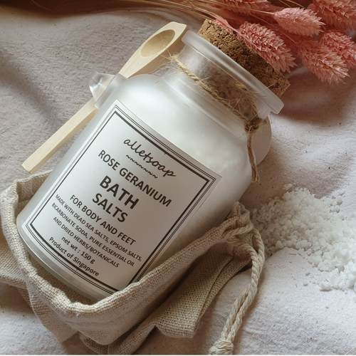 Bath Salts Rose Geranium 150g