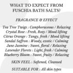 Fuschia - Crystal Rose Bath salt - 15 gms