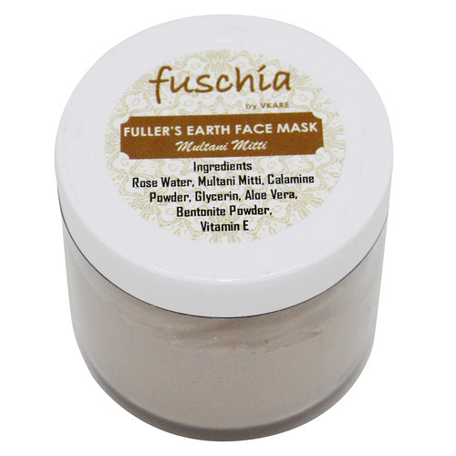 Fuschia Fullers Earth Face Mask - Multani Mitti - 100g