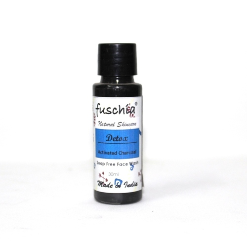 Fuschia Detox Activated Charcoal Soap Free Face Wash - 30ml