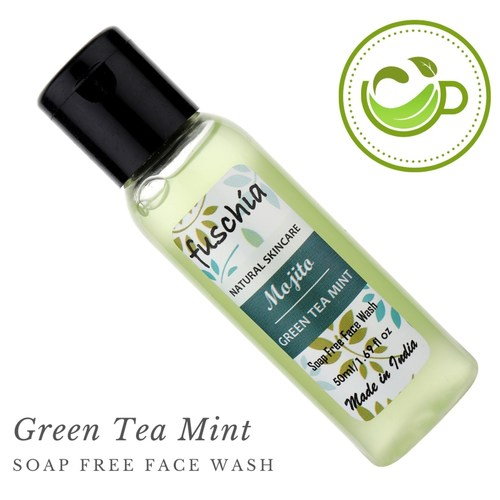 Fuschia Mojito Green Tea Mint Soap Free Face Wash - 50ml