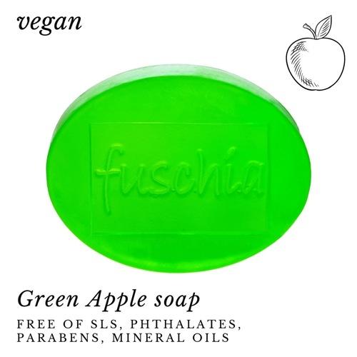 Fuschia - Green Apple Natural Handmade Glycerine Soap