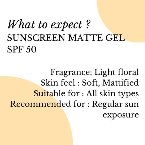 Fuschia SPF-50 Sunscreen Matt Gel - 50ml