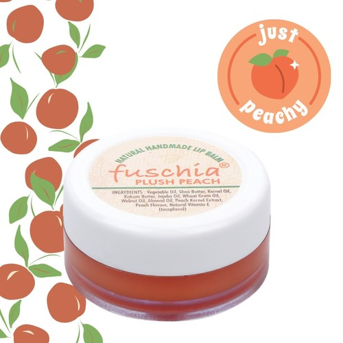 Fuschia  Peach Plush Lip Balm