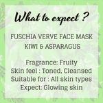 Fuschia Verve Face Mask - Kiwi & Asparagus - 50g