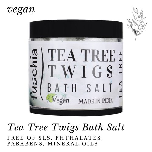 Fuschia Tea Tree Twigs Bath Salt - 100g