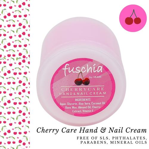 Fuschia Hand & Nail Cream - Cherry Care