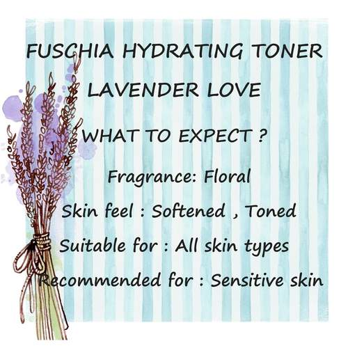 Fuschia Hydrating Facial Toner - Lavender - 30ml