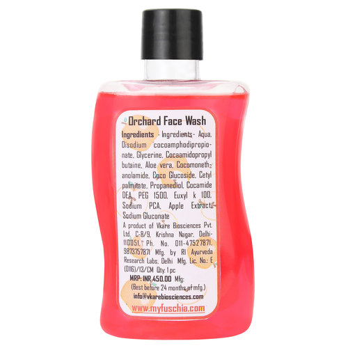 Fuschia Orchard Red Apple Soap Free Face Wash - 100ml