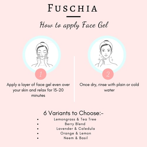 Fuschia Anti Acne Face Gel - Neem & Basil-10g
