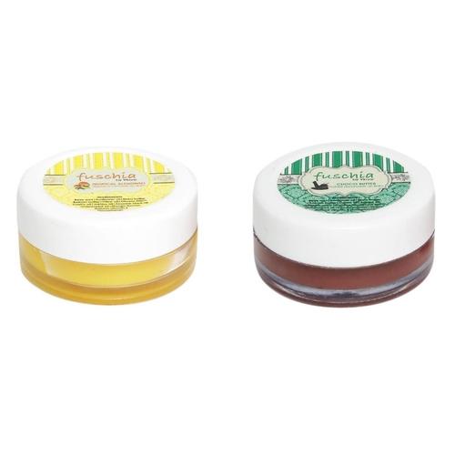Fuschia  Caramel & Choco Butter Lip Balm Combo