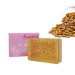 Fuschia - Almond Oil Scrub Natural Handmade Herbal Soap