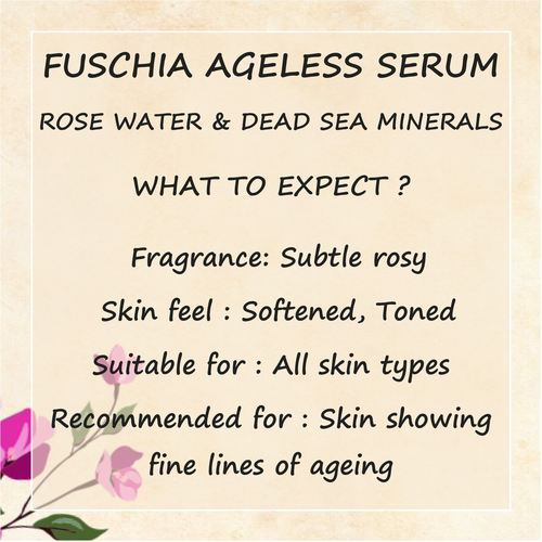Fuschia Ageless Serum - Rose Water & Dead Sea Minerals