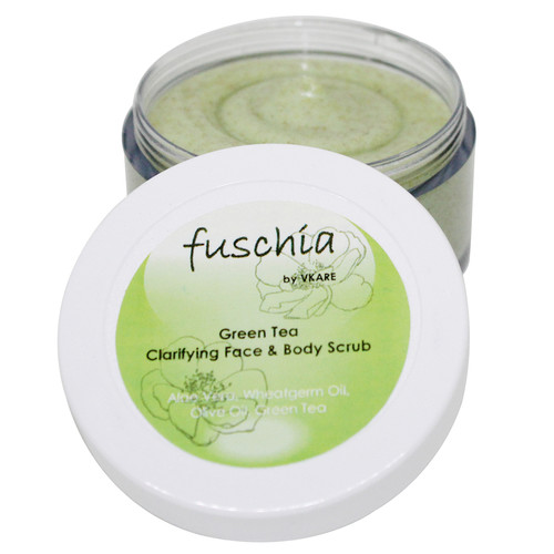 Fuschia Green Tea Clarifying Face & Body Scrub - 100gm