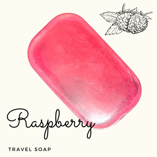 Fuschia - Raspberry Natural Handmade Glycerine Soap-20g