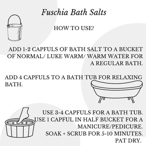 Fuschia - Citrus Orange Bath Salt - 100 gms