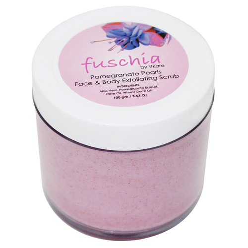 Fuschia - Pomegranate Pearls - Face & Body Exfoliating Scrub - 100g