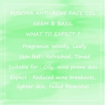 Fuschia Anti Acne Face Gel - Neem & Basil - 50g