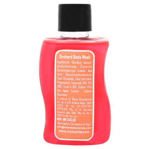 Fuschia Orchard Red Apple Soap Free Body Wash - 50ml