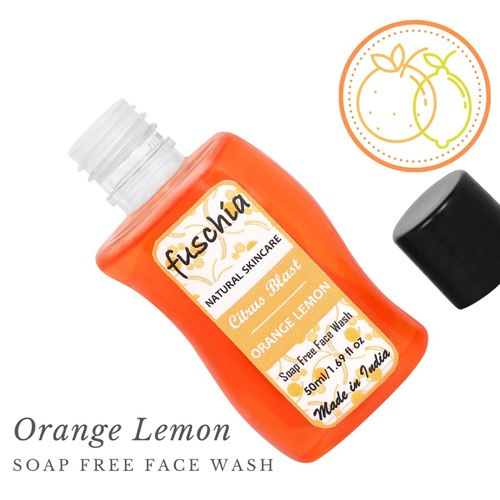 Fuschia Citrus Blast Orange Lemon Soap Free Face Wash - 50ml