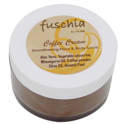 Fuschia - Coffee Cream - Smoothening Face & Body Scrub -50g