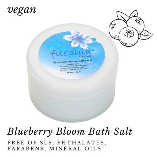 Fuschia - Blueberry Bloom Bath salt - 50gms