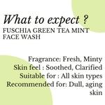 Fuschia Mojito Green Tea Mint Soap Free Face Wash - 100ml