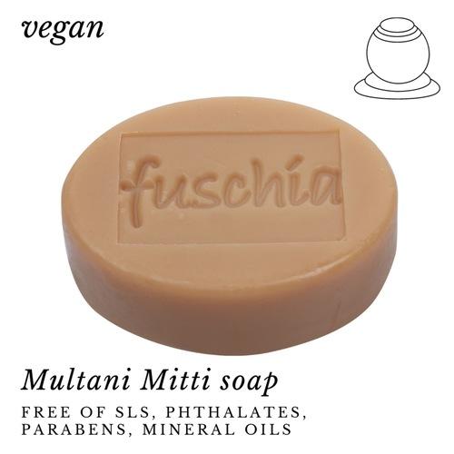 Fuschia - Multani Mitti Natural Handmade Herbal Soap
