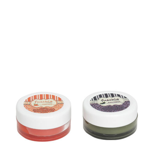 Fuschia  Peach & Black Currant Lip Balm Combo