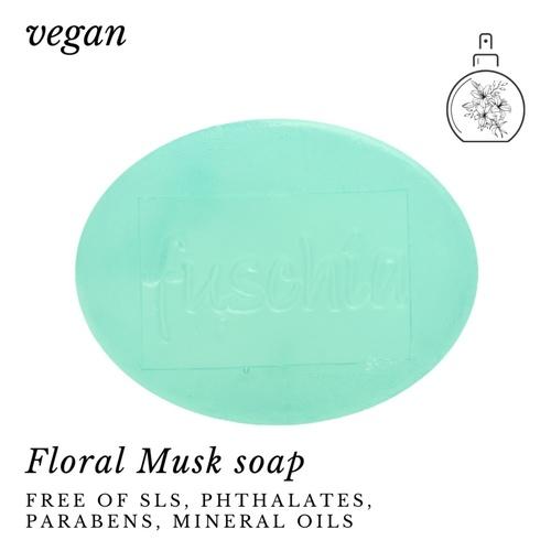 Fuschia - Floral Musk Natural Handmade Glycerine Soap