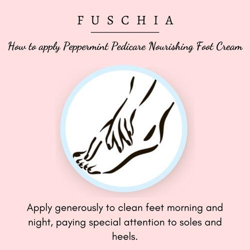 Fuschia - Peppermint Pedicare Nourishing Foot Cream-15g