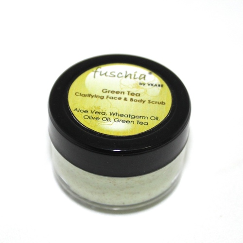 Fuschia - Green Tea - Face & Body Clarifying Scrub-10g
