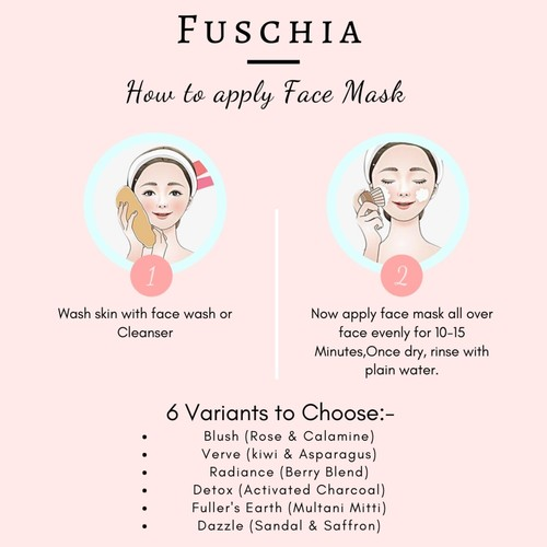 Fuschia Blush Face Mask  - Rose & Calamine - 100g