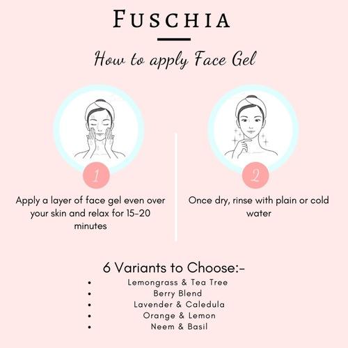 Fuschia Hydrating Face Gel - Lavender & Calendula - 100g