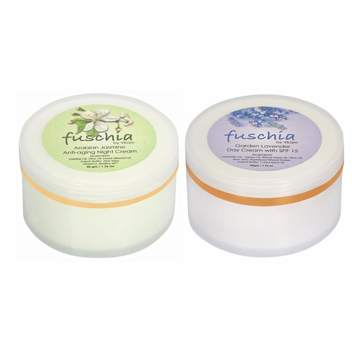 Fuschia - Day and Night Cream Skin Care Combo