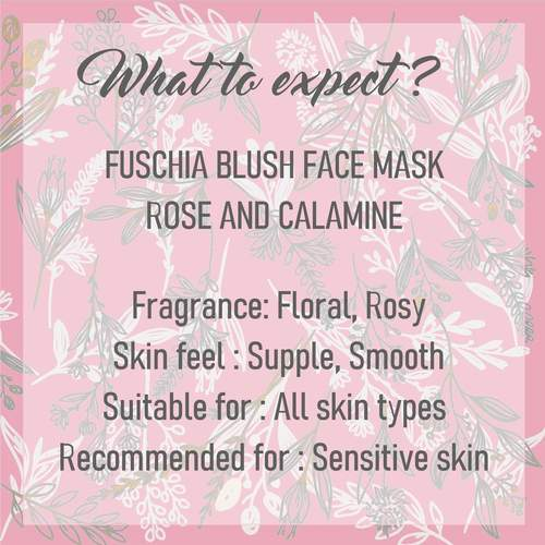 Fuschia Blush Face Mask  - Rose & Calamine - 50g