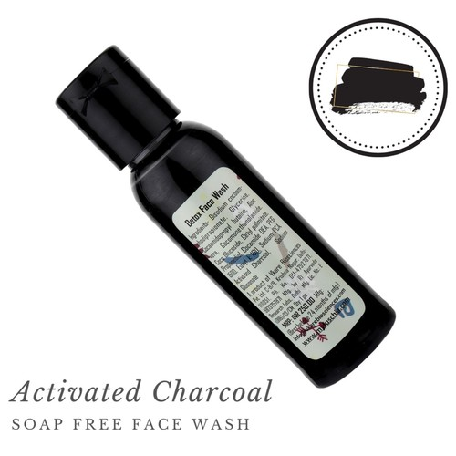 Fuschia Detox Activated Charcoal Soap Free Face Wash - 50ml