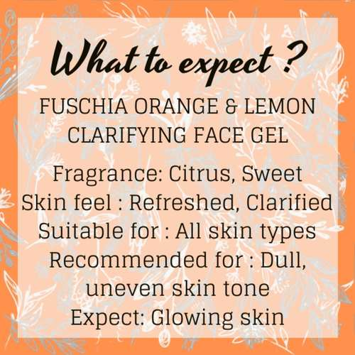 Fuschia Clarifying Face Gel - Orange & Lemon - 100g