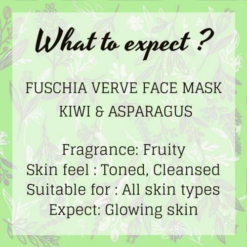 Fuschia Verve Face Mask - Kiwi & Asparagus - 100g