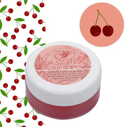 Fuschia -  Cherry Red Lip Balm