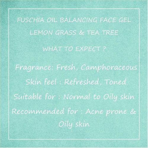 Fuschia Oil Balancing Face Gel -  Lemongrass & Tea Tree - 50g